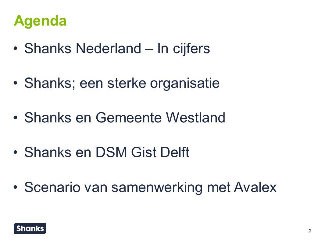 3 Shanks Nederland - In cijfers 450 miljoen omzet in NL 46 locaties in Nederland 2.200 medewerkers 5.050 kiloton ingezameld afval 38.789 MWh electriciteit opgewekt 706 kton CO 2 vermeden 88% recycling