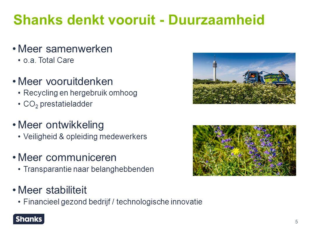 5 Shanks denkt vooruit - Duurzaamheid Meer samenwerken o.a.