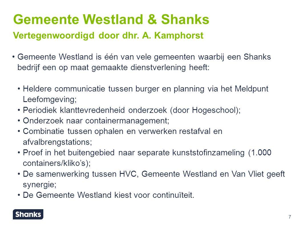 8 DSM Gist Delft & Shanks DSM is ook een bedrijf waarbij Shanks een volledige total care dienstverlening heeft.