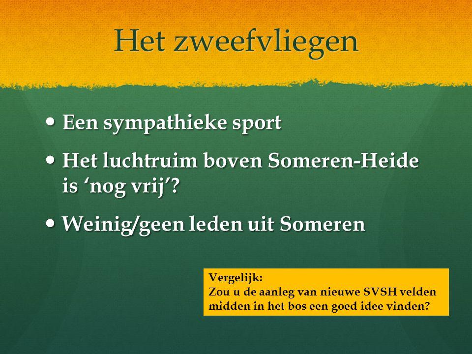 Het zweefvliegen Een sympathieke sport Een sympathieke sport Het luchtruim boven Someren-Heide is 'nog vrij'.