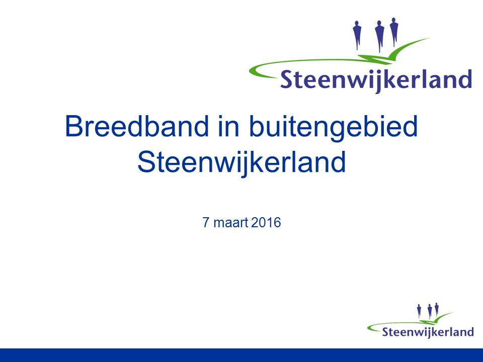 Breedband in buitengebied Steenwijkerland 7 maart 2016