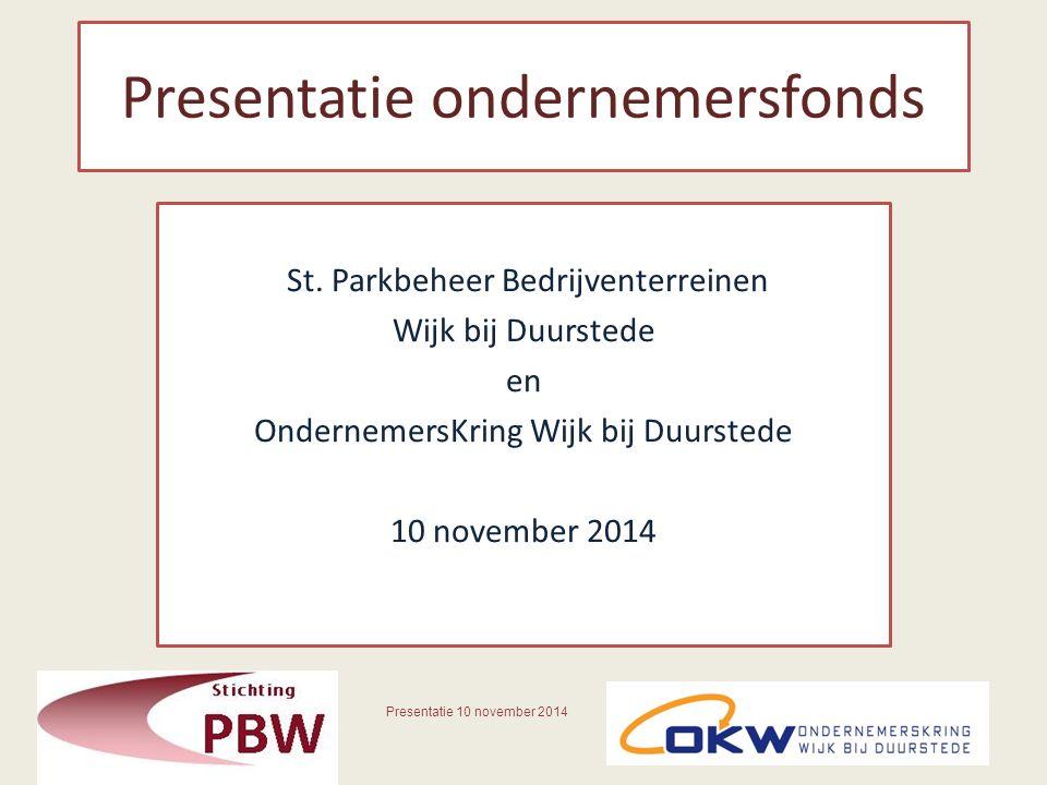 Presentatie ondernemersfonds St.