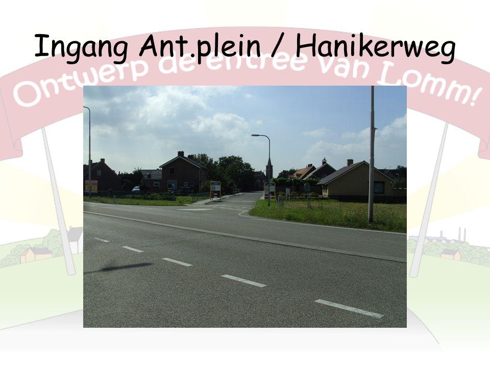 Ingang Ant.plein / Hanikerweg