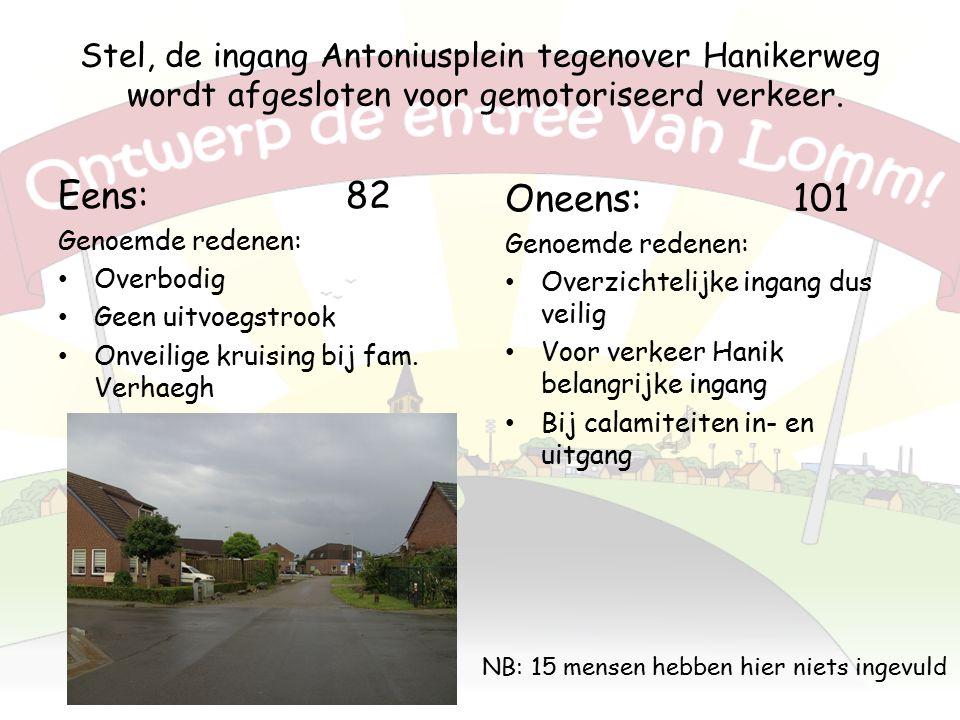 Stel, de ingang Antoniusplein tegenover Hanikerweg wordt afgesloten voor gemotoriseerd verkeer.