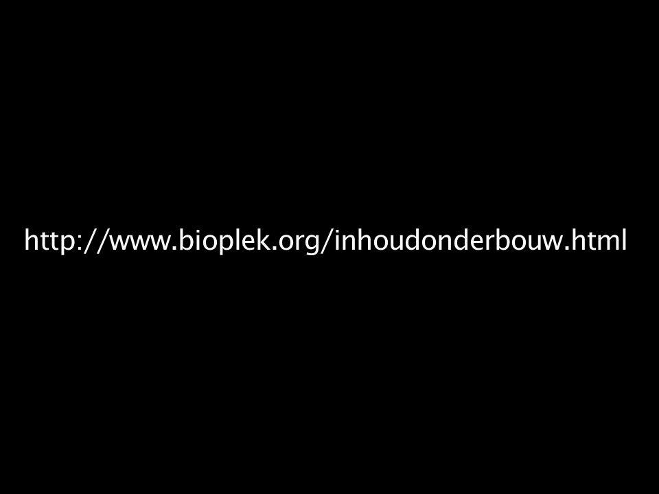 http://www.bioplek.org/inhoudonderbouw.html