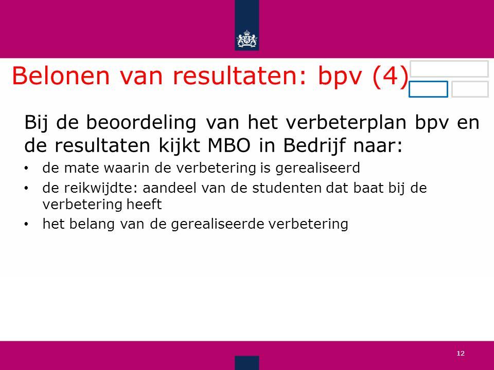 Belonen van resultaten: bpv (4).