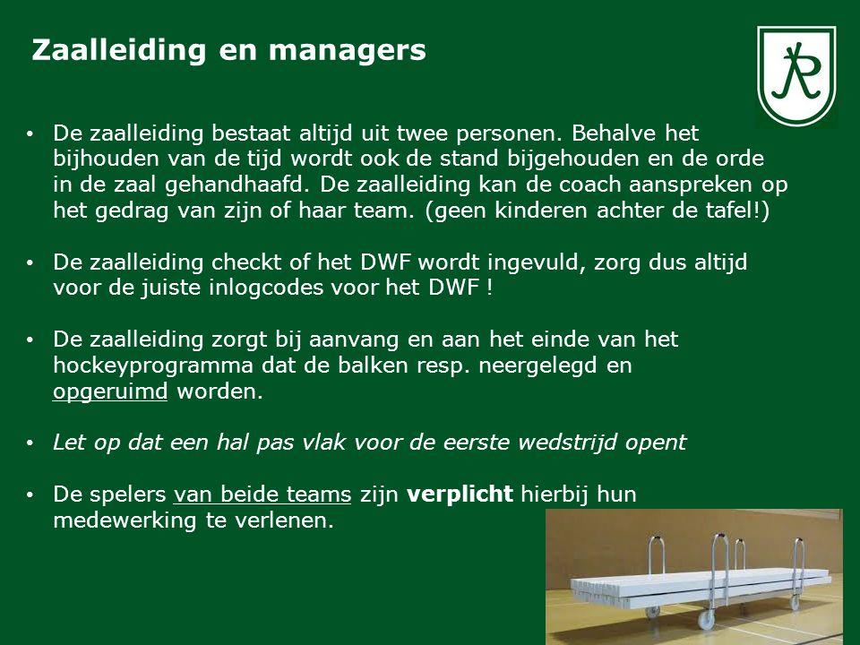 Zaalleiding en managers De zaalleiding bestaat altijd uit twee personen.