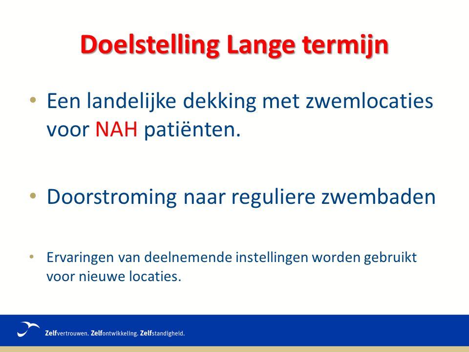 Een landelijke dekking met zwemlocaties voor NAH patiënten.