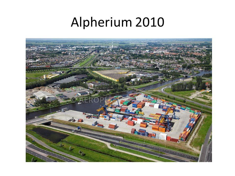 1 ste resultaten 2010 Alpherium gelanceerd Vervoert 40.000 containers per jaar per binnenvaart 80.000 passages op de Rotterdamse ring vermeden.