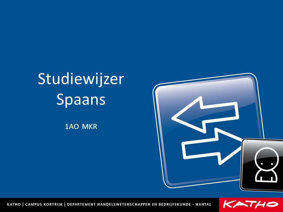 Studiewijzer Spaans 1AO MKR