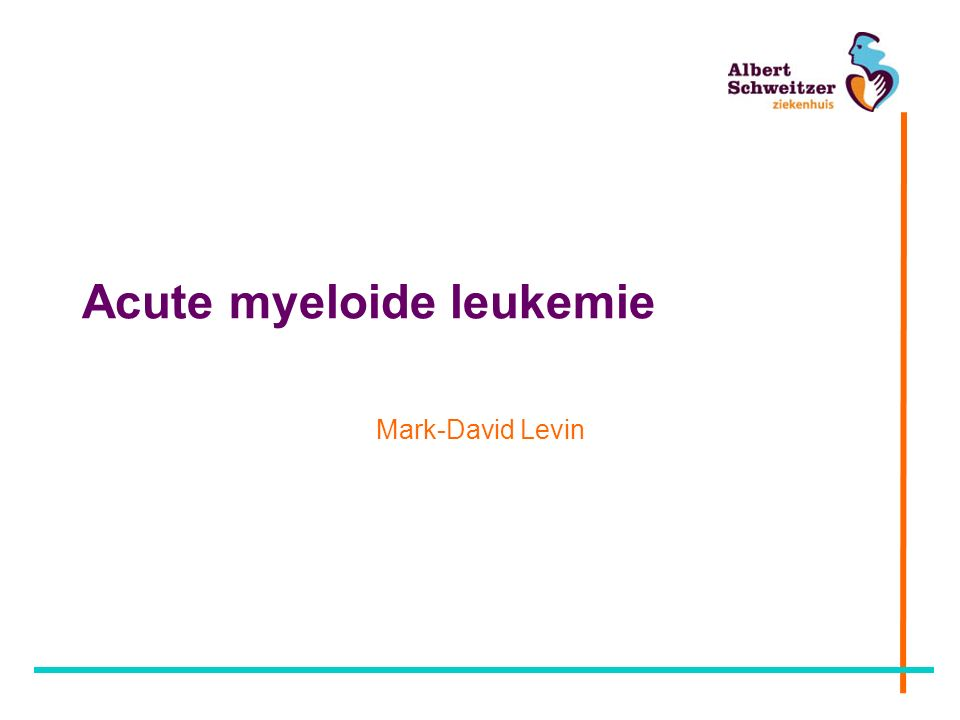 Acute myeloide leukemie Mark-David Levin