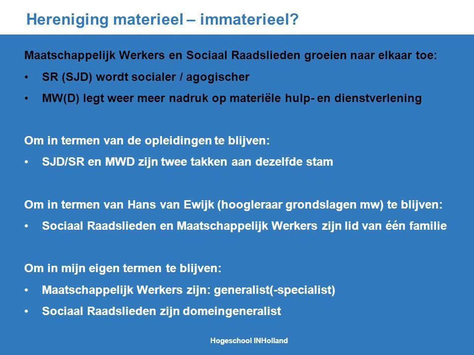 Hereniging materieel – immaterieel.