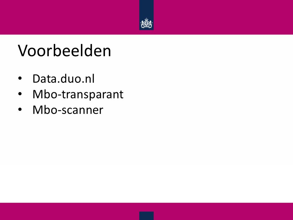 Voorbeelden Data.duo.nl Mbo-transparant Mbo-scanner