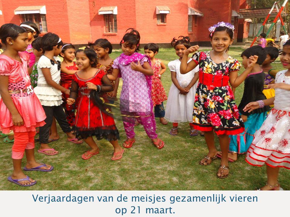 Sponsoravond Bangladesh Verjaardagen van de meisjes gezamenlijk vieren op 21 maart.