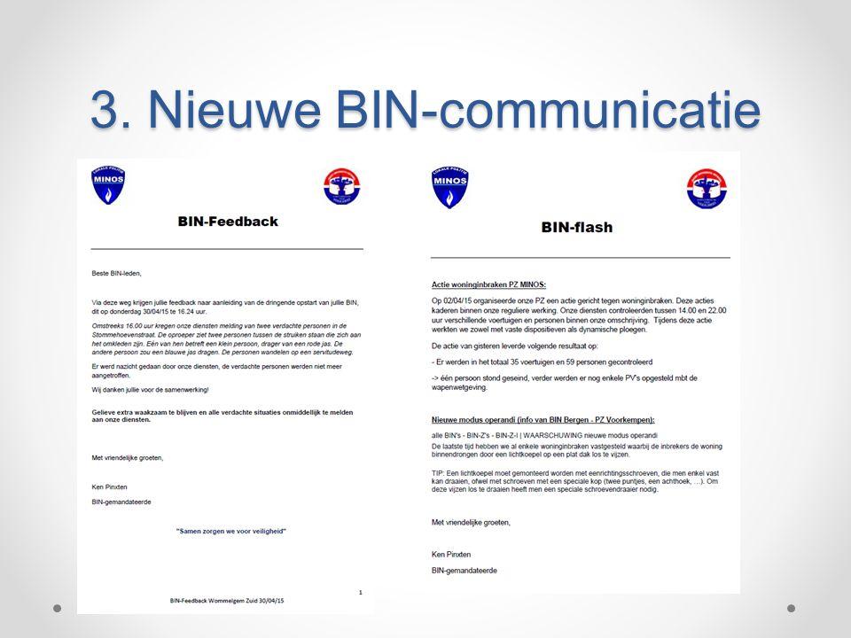 3. Nieuwe BIN-communicatie