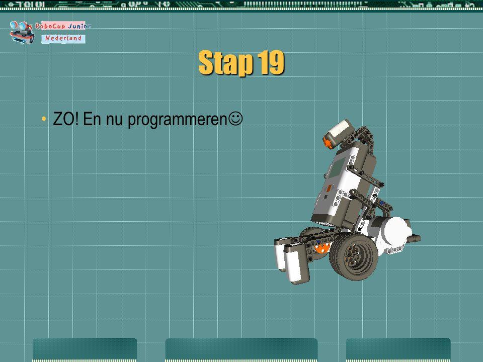 Stap 19 ZO! En nu programmeren