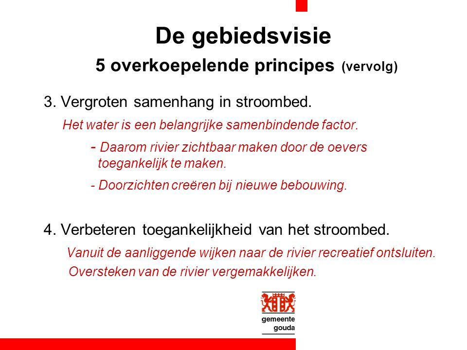 De gebiedsvisie 5 overkoepelende principes (vervolg) 3.
