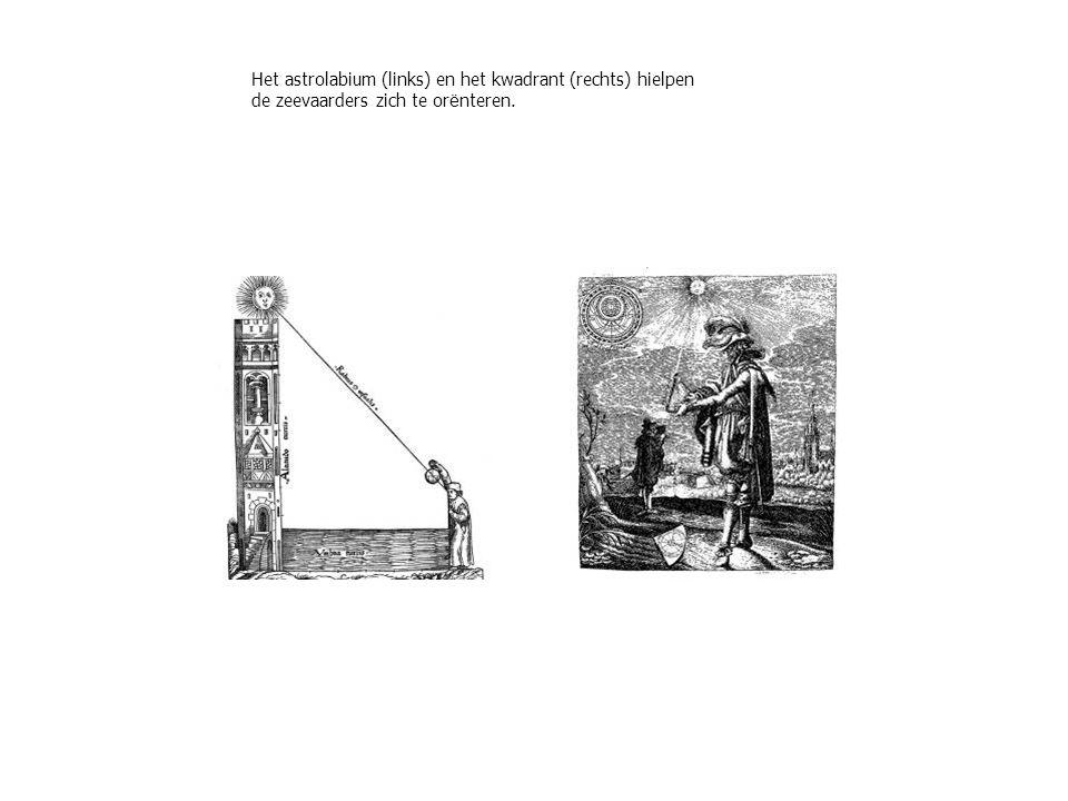 Het astrolabium (links) en het kwadrant (rechts) hielpen de zeevaarders zich te or ë nteren.
