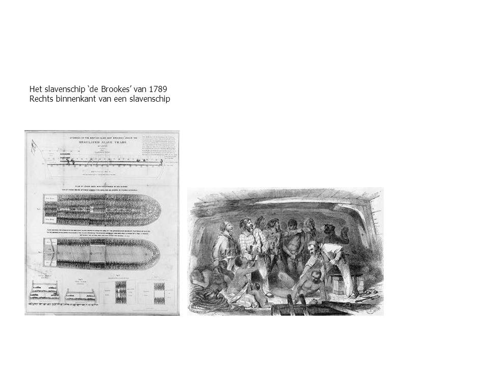 Het slavenschip 'de Brookes' van 1789 Rechts binnenkant van een slavenschip