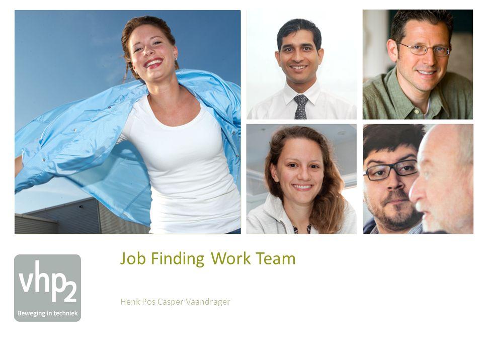 Agenda Kick off Job Finding Work Team Welkom, VHP2 1.