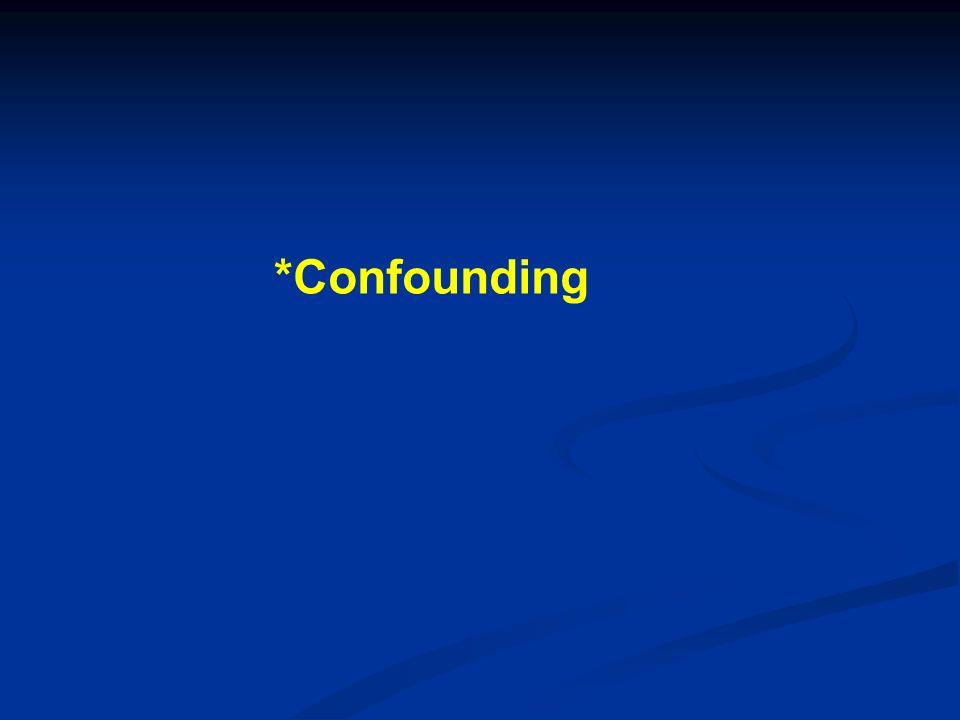 *Confounding