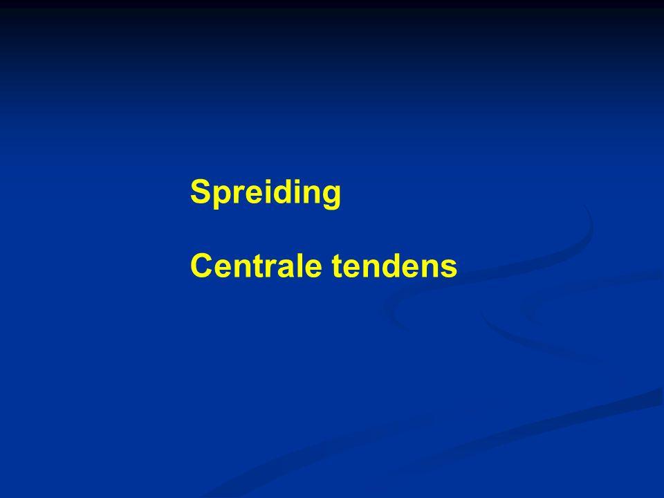 Spreiding Centrale tendens