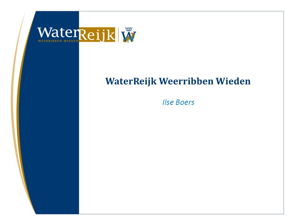 WaterReijk Weerribben Wieden Ilse Boers