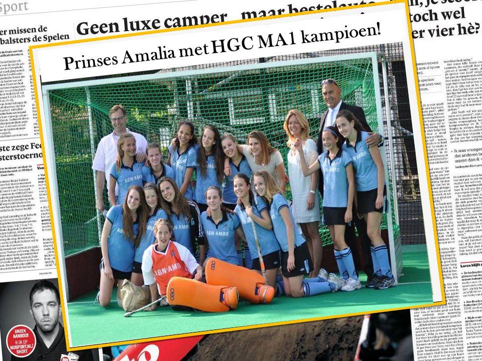 Prinses Amalia met HGC MA1 kampioen!