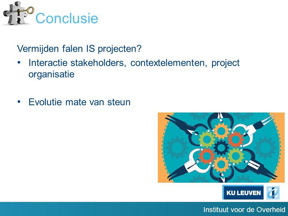 Instituut voor de Overheid Conclusie Vermijden falen IS projecten.