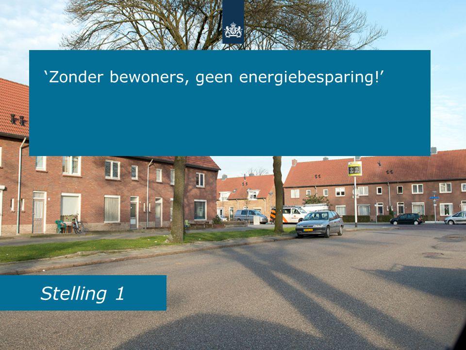 Stelling 1 'Zonder bewoners, geen energiebesparing!'