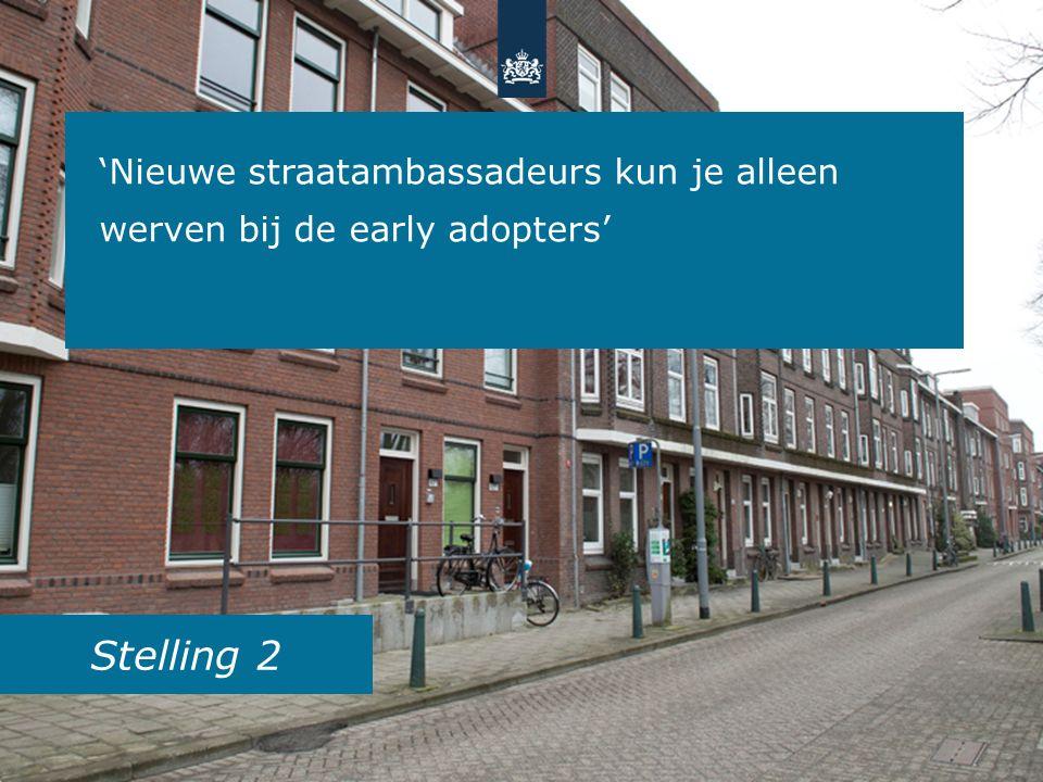Stelling 2 'Nieuwe straatambassadeurs kun je alleen werven bij de early adopters'