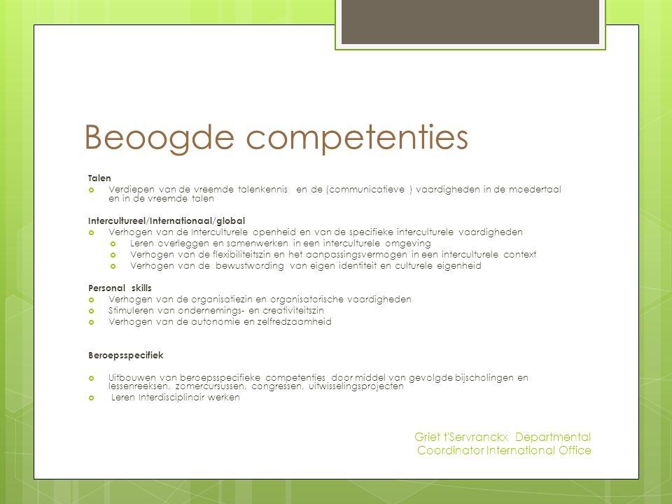 Voorbeelden inhoud De inhoud van dit OOD kan verschillen al naar gelang de activiteiten en de gevolgde opleiding.