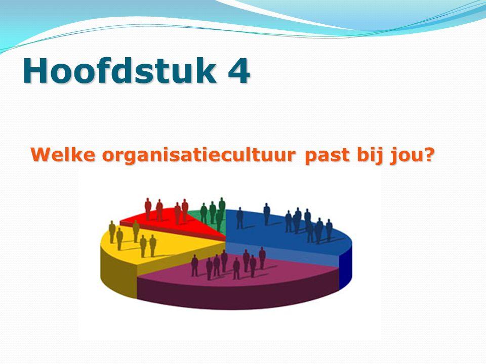 Hoofdstuk 4 Welke organisatiecultuur past bij jou?