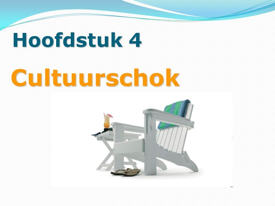Hoofdstuk 4 Cultuurschok