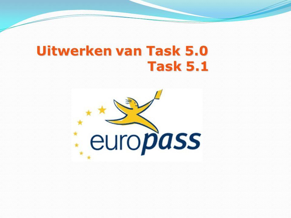 Uitwerken van Task 5.0 Task 5.1 Task 5.1
