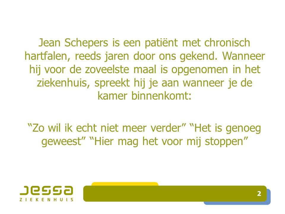 Jean Schepers is een patiënt met chronisch hartfalen, reeds jaren door ons gekend.