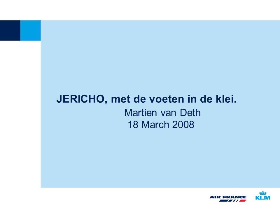 JERICHO, met de voeten in de klei. Martien van Deth 18 March 2008