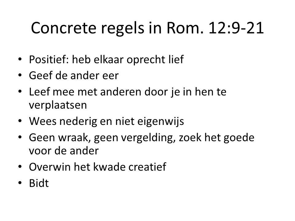 Concrete regels in Rom.