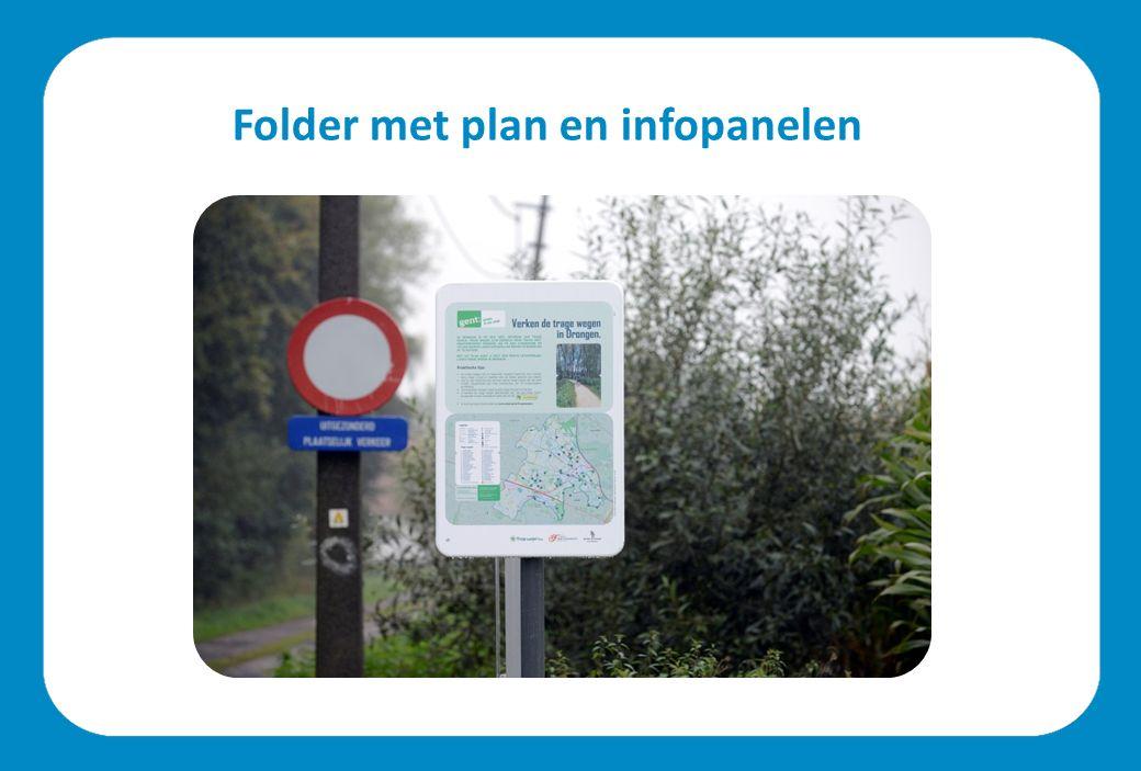 Folder met plan en infopanelen