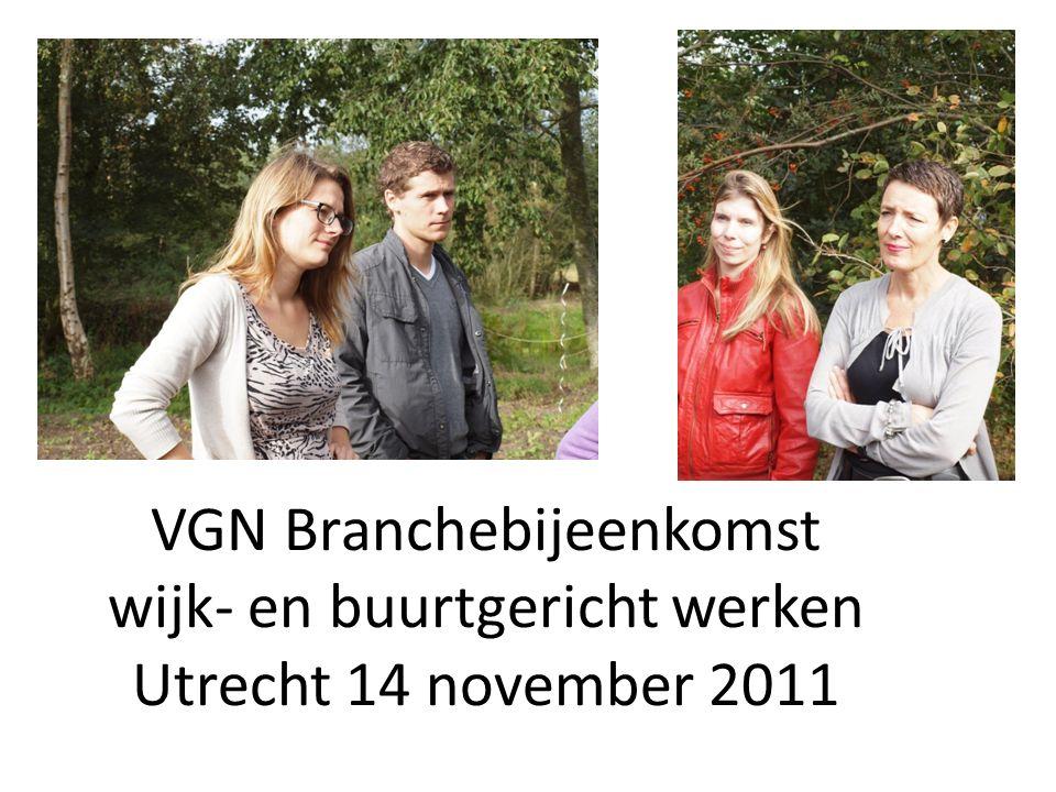 VGN Branchebijeenkomst wijk- en buurtgericht werken Utrecht 14 november 2011