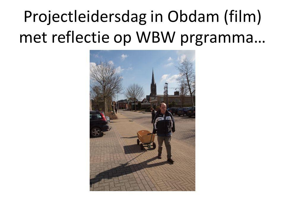 Projectleidersdag in Obdam (film) met reflectie op WBW prgramma…