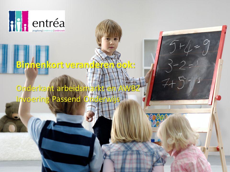 Binnenkort veranderen ook: Onderkant arbeidsmarkt en AWBZ Invoering Passend Onderwijs