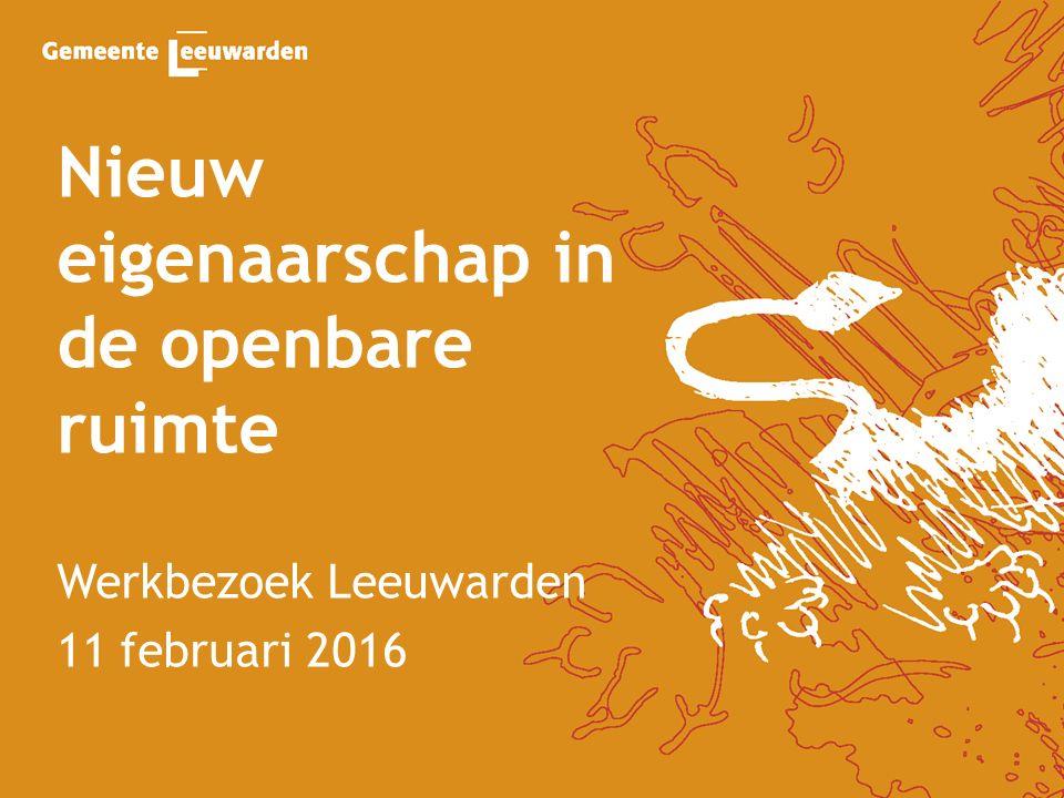 Nieuw eigenaarschap in de openbare ruimte Werkbezoek Leeuwarden 11 februari 2016