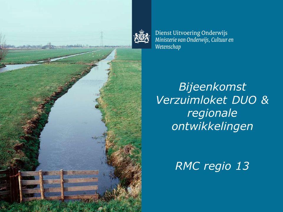 Bijeenkomst Verzuimloket DUO & regionale ontwikkelingen RMC regio 13