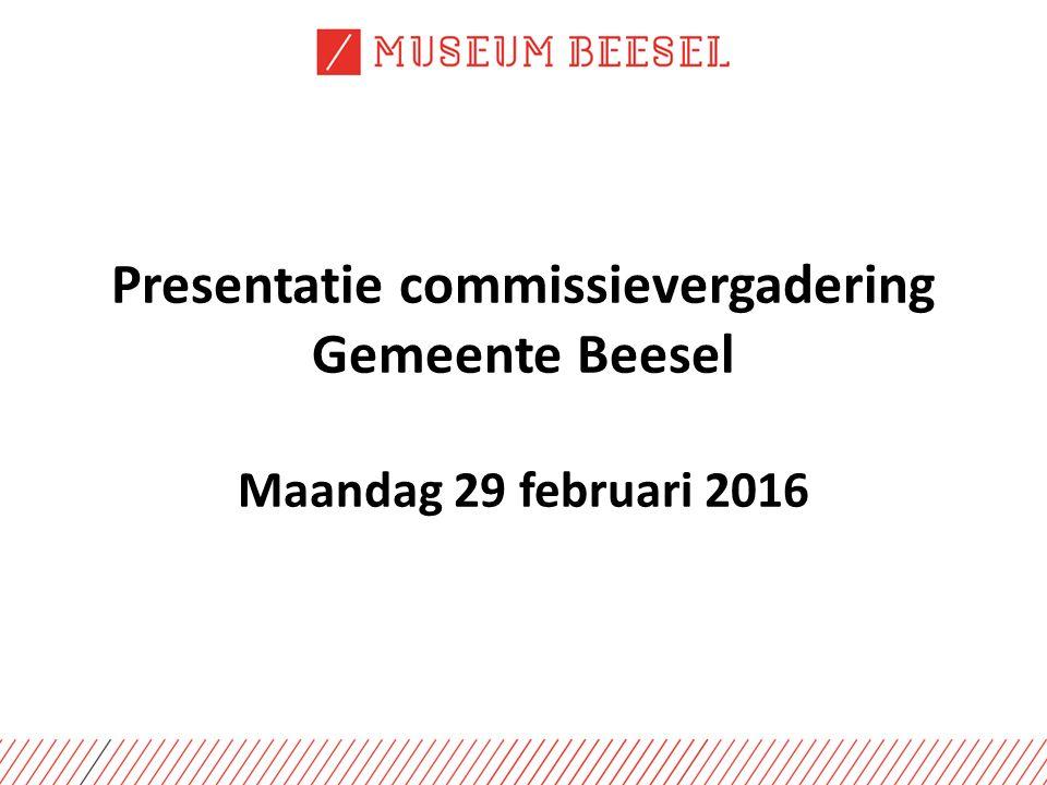 Presentatie commissievergadering Gemeente Beesel Maandag 29 februari 2016