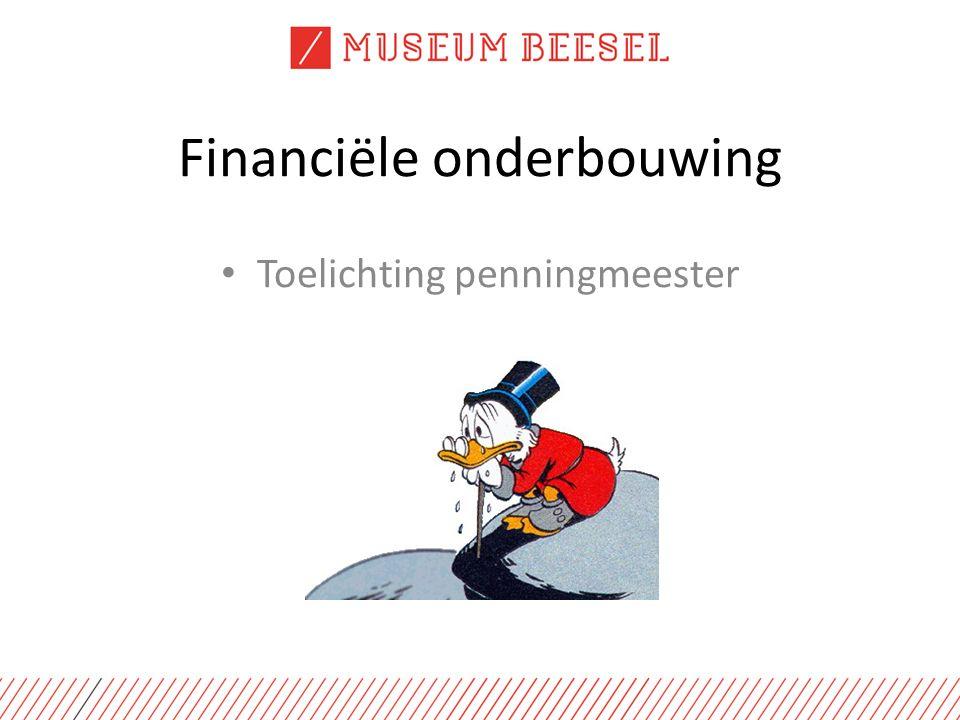 Financiële onderbouwing Toelichting penningmeester