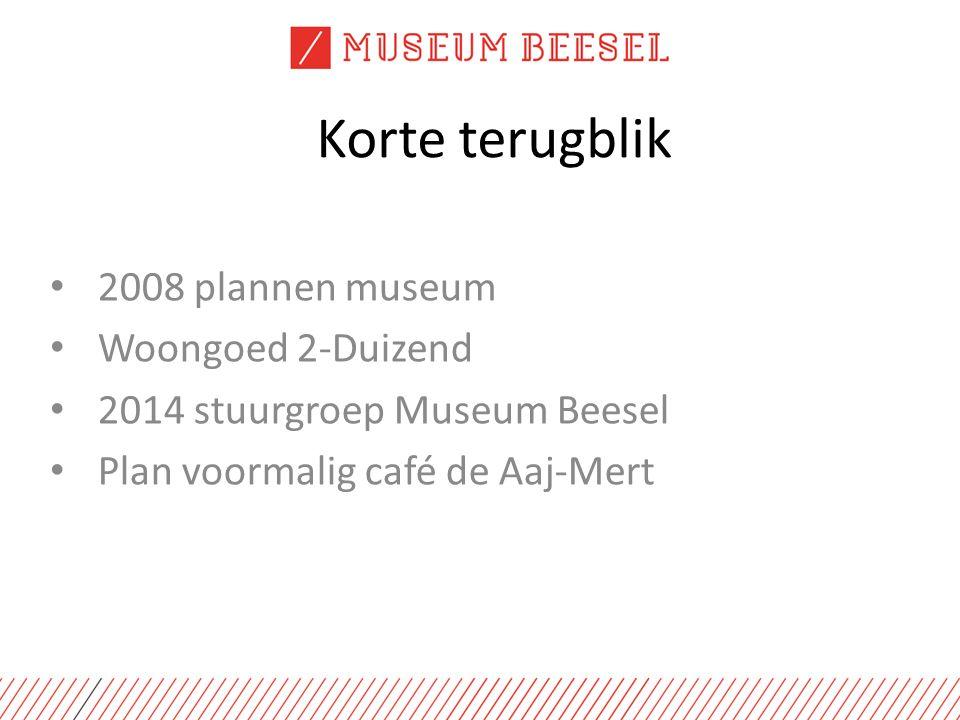 Korte terugblik 2008 plannen museum Woongoed 2-Duizend 2014 stuurgroep Museum Beesel Plan voormalig café de Aaj-Mert