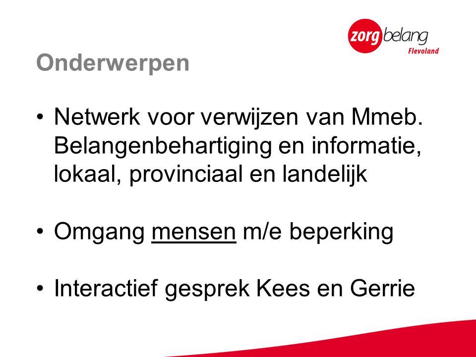Onderwerpen Netwerk voor verwijzen van Mmeb.
