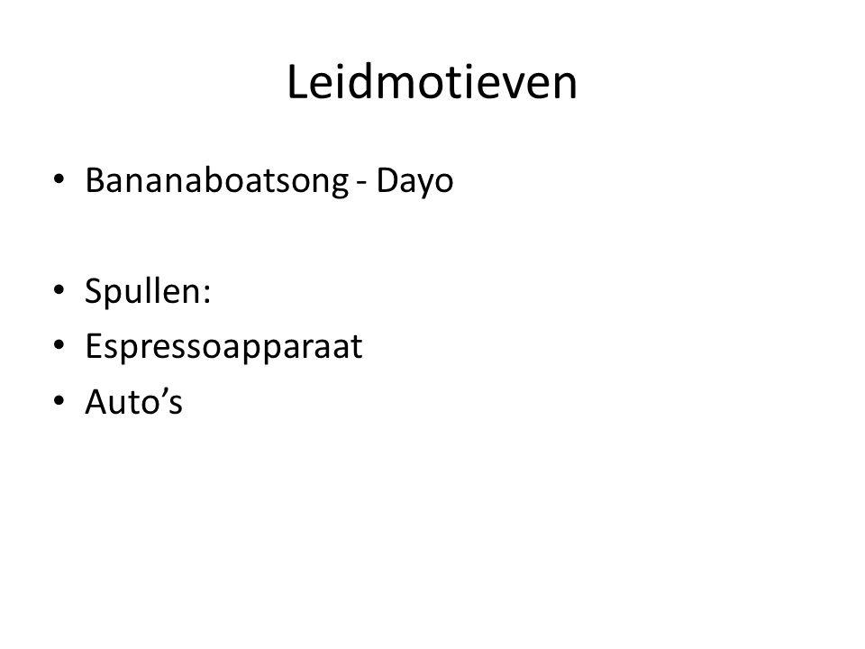 Leidmotieven Bananaboatsong - Dayo Spullen: Espressoapparaat Auto's