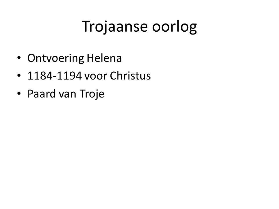 Trojaanse oorlog Ontvoering Helena 1184-1194 voor Christus Paard van Troje